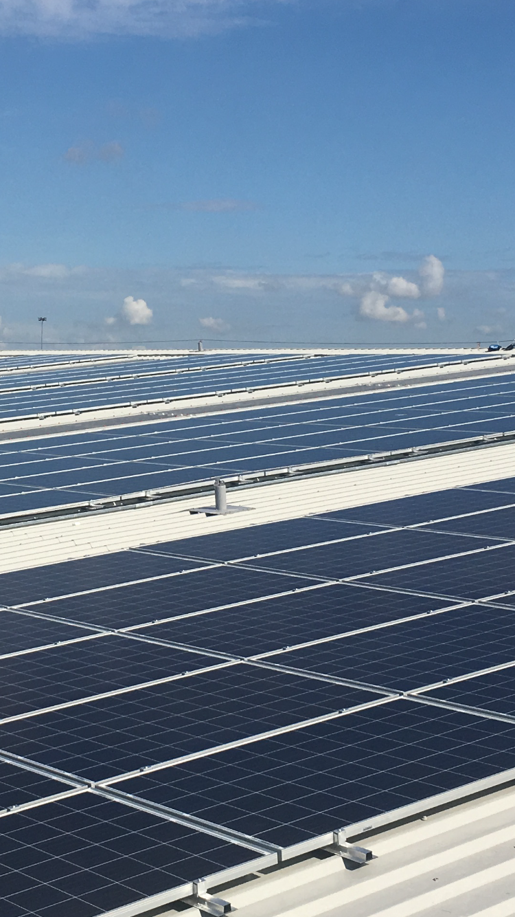 Solar PV installation at BMW plant